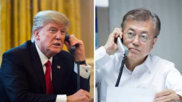 Trump-and-Moon-In-telephone-conversation