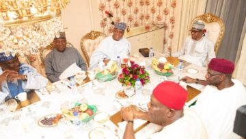 Moment-to-banter-Buhari-with-Senate-President-Bukola-Saraki-and-other-NASS-leaders–e1557867036154